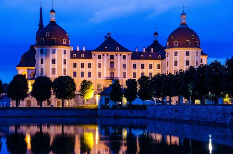 Kameratester, Landschaftsfotografie, blaue Stunde, Schloss Moritzburg, Langzeitbelichtung